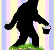 Gone Easter Squatchin with Pastel Background by Gravityx9