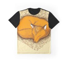 LOVE HEART fox sleeping Graphic T-Shirt