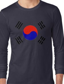 South Korea - Flag Symbol (Korean) Long Sleeve T-Shirt