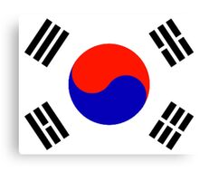 South Korea - Flag Symbol (Korean) Canvas Print