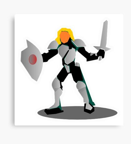 RPG Fighting Armored Warrior Character Knight Canvas Print