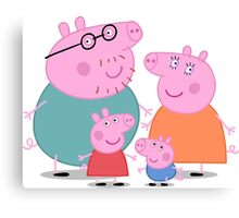 Peppa Pig Family Canvas Print