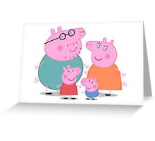 Peppa Pig Family Greeting Card
