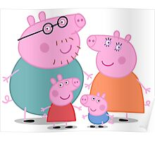 Peppa Pig Family Poster
