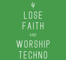 INFIDEL / Lose Faith And Worship Techno / White Kids Tee