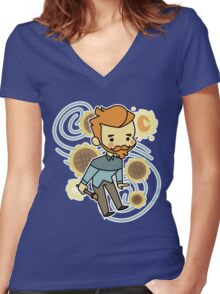 Kawaii Vincent Women's Fitted V-Neck T-Shirt