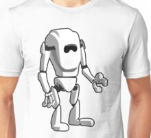 White Robot Machine Unisex T-Shirt