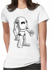 White Robot Machine Womens Fitted T-Shirt