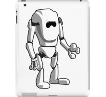 White Robot Machine iPad Case/Skin