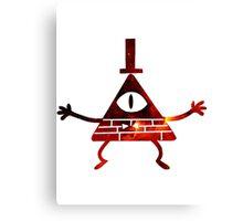 Bill Cipher Red Galaxy - Gravity Falls Canvas Print