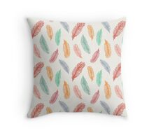 Pattern with feathers bird Throw Pillow