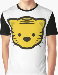 Cute Cartoon Tiger Head/Face Graphic T-Shirt