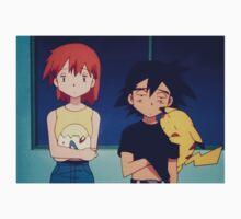 Ash Misty Pikachu Pokemon Kids Tee