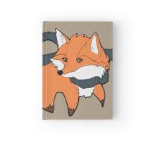 Fox and scarf Hardcover Journal