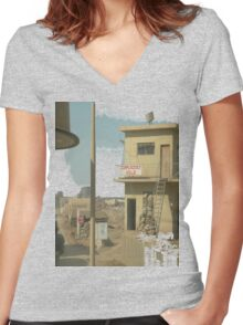Complacency Kills Women's Fitted V-Neck T-Shirt