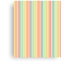 Ribbon Soft Pastel Stripes Canvas Print