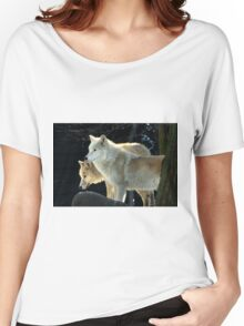 Two young wolves  Women's Relaxed Fit T-Shirt