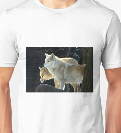 Two young wolves  Unisex T-Shirt