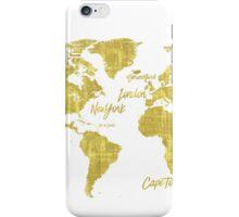 Gold world map treasure iPhone Case/Skin