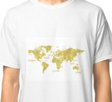 Gold world map treasure Classic T-Shirt