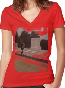 Red FriDay Women's Fitted V-Neck T-Shirt