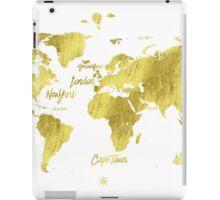 Gold world map Jules Verne inspiring iPad Case/Skin