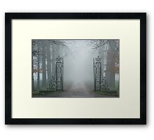 Which mysteries lie beyond this old gate? Framed Print