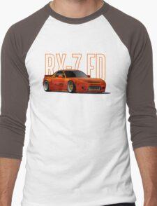RX-7 Men's Baseball ¾ T-Shirt
