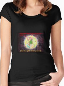 When the world around you is dark - find the light inside you Women's Fitted Scoop T-Shirt