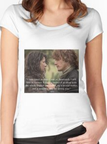Outlander/Jamie & Claire Fraser Women's Fitted Scoop T-Shirt