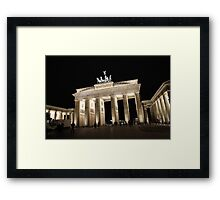Brandenburg Gate at Night Framed Print