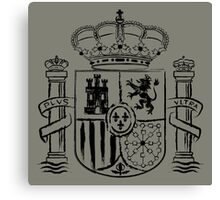 Spanish Shield - Black Edition Canvas Print