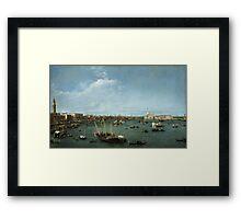 Canaletto Bernardo Bellotto - Bacino di San Marco, Venice about 1738 Framed Print