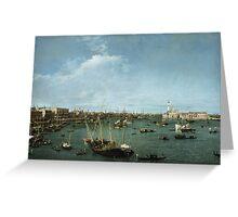 Canaletto Bernardo Bellotto - Bacino di San Marco, Venice about 1738 Greeting Card