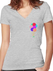 Up! (olive) Women's Fitted V-Neck T-Shirt