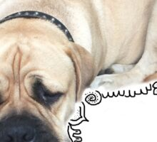 Cute dog sleeping boxer Sticker