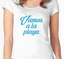 VAMOS A LA PLAYA Women's Fitted Scoop T-Shirt