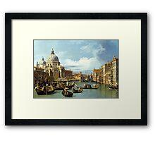 Canaletto Bernardo Bellotto - The Entrance to the Grand Canal, Venice  1730 Framed Print