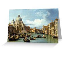 Canaletto Bernardo Bellotto - The Entrance to the Grand Canal, Venice  1730 Greeting Card