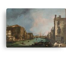 Canaletto Bernardo Bellotto - The Grand Canal in Venice with the Rialto Bridge 1724 Metal Print