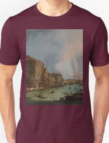 Canaletto Bernardo Bellotto - The Grand Canal in Venice with the Rialto Bridge 1724 Unisex T-Shirt