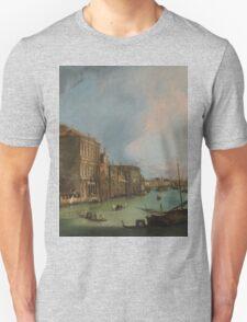 Canaletto Bernardo Bellotto - The Grand Canal in Venice with the Rialto Bridge 1724 Unisex T-Shirt