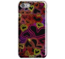 Glowing hearts iPhone Case/Skin