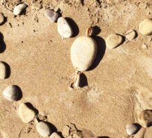 Heart on the Sand  Sticker