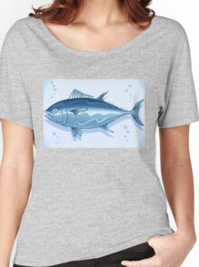 Tuna Watercolor Underwater World Women's Relaxed Fit T-Shirt