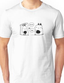 The Cat and The Mirror Print Text Unisex T-Shirt