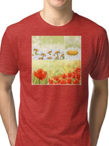 Flowers collage Tri-blend T-Shirt