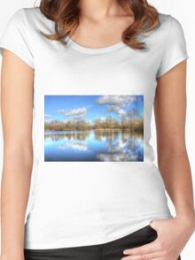 Lake Reflections Women's Fitted Scoop T-Shirt