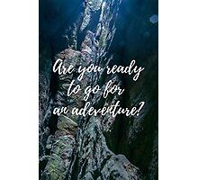 Adventure lover Photographic Print
