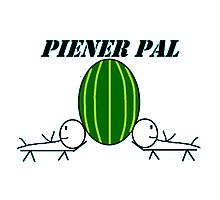 Piener Pal logo white Photographic Print